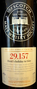 Laphroaig SMWS 29.157 Heidi's Holiday to Islay 1