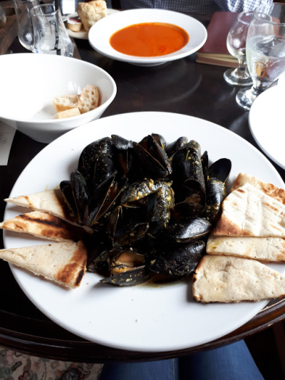 Curry Mussels to die for