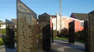 Memorial to lost fishermen. Names are still being added today.