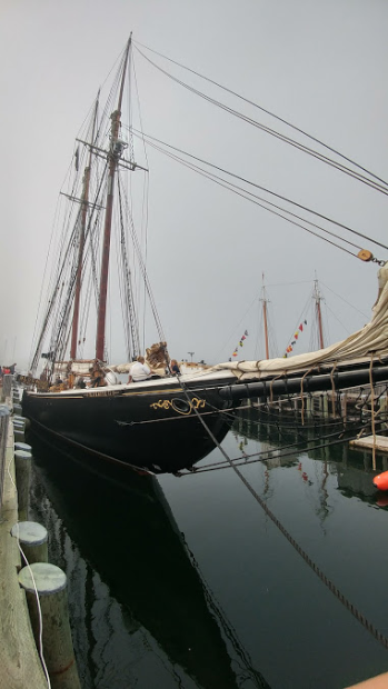 The Bluenose II docked in Lunenburg
