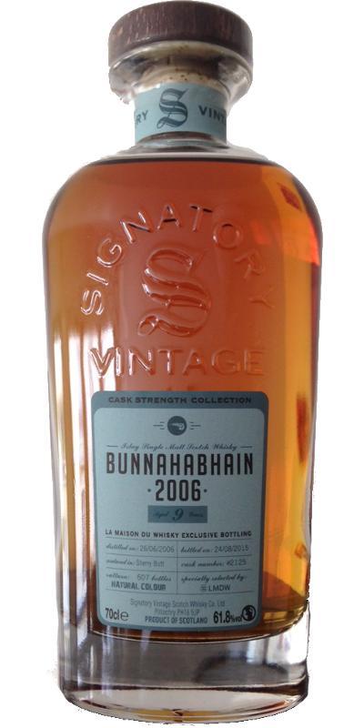 Bunnahabhain 9 2006 Signatory Vintage Cask Strength 2.jpg