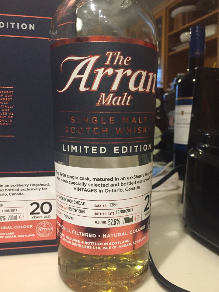 Arran 20 1996 Private Cask for LCBO 1.jpg
